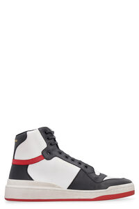 SL24 leather high-top sneakers, High Top Sneakers Saint Laurent man