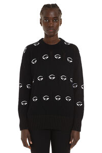 Wool-blend crew-neck sweater, Crew neck sweaters Kenzo woman