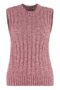 Knitted vest, Crew neck sweaters GANNI woman