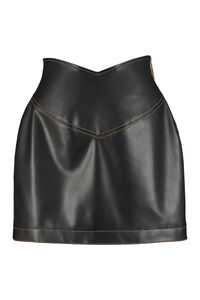 Faux leather mini skirt, Leather skirts GCDS woman
