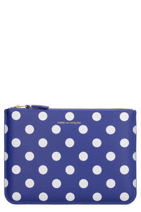 Printed leather flat pouch, Poches Comme des Garçons Wallet man