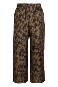 Printed silk pants, Wide leg pants Fendi woman