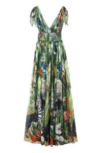 Printed georgette gown, Printed dresses Dolce & Gabbana woman