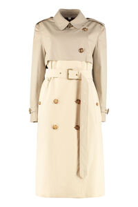 Cotton gabardine long trench coat, Raincoats And Windbreaker Burberry woman