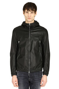Hooded leather jacket, Leather jackets Giuseppe Zanotti man