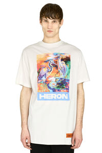 Printed embroidered cotton t-shirt, Short sleeve t-shirts Heron Preston man