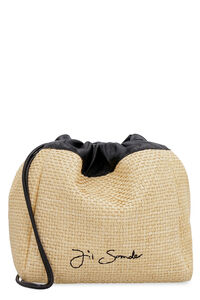 Raffia shoulder bag, Bucketbag Jil Sander woman