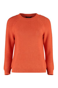 Piroga cotton long sleeve sweater, Crew neck sweaters Weekend Max Mara woman