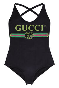 Logo print one-piece swimsuit, One-Piece Gucci woman
