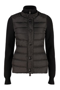 Padded front panel cardigan, Casual Jackets Moncler Grenoble woman