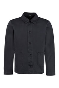 Cotton overshirt, Plain Shirts A.P.C. man