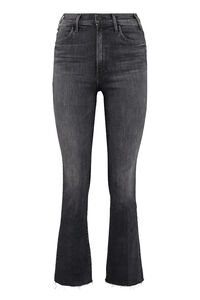 The Hustler Ankle Fray cropped-fit jeans, Cropped Jeans Mother woman