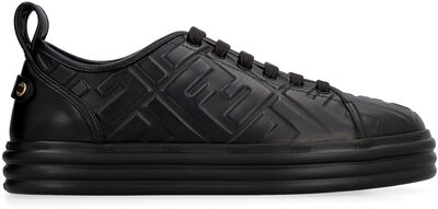 Rise leather platform sneakers