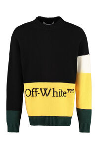 Color-block wool sweater, Crew necks sweaters Off-White man