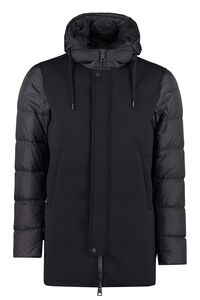 Padded jacket with zip and snaps, Down jackets Herno man