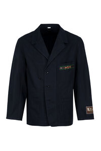 Single-breasted cotton blazer, Single breasted blazers Gucci man