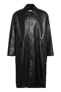 Faux leather coat, Overcoats MSGM man