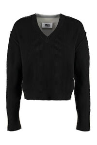 V neck pullover, V neck sweaters MM6 Maison Margiela woman