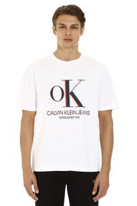 3D print cotton t-shirt, Short sleeve t-shirts CALVIN KLEIN JEANS EST. 1978 man