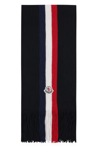 Ribbed knit scarf, Scarves Moncler man