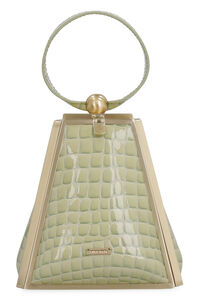 Trina croco print leather wristlet, Clutch Cult Gaia woman