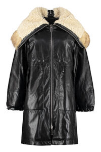 Faux leather coat, Knee Lenght Coats Pinko woman