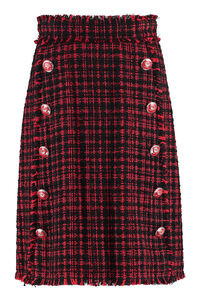 Embellished button tweed skirt, Knee Length skirts Dolce & Gabbana woman