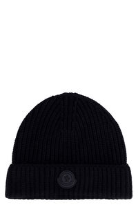 Ribbed knit beanie, Hats Moncler woman