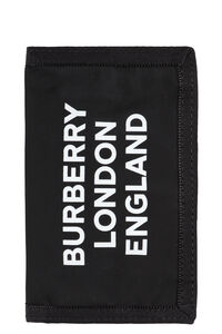 Logo print flap-over wallet, Wallets Burberry man