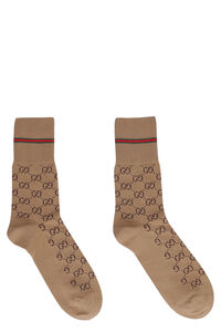 Web detail cotton socks, Socks Gucci man