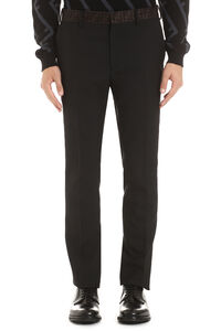 Wool blend tailored trousers, Formal trousers Fendi man