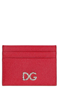 Dauphine print leather card holder, Wallets Dolce & Gabbana woman