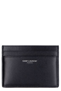 Smooth leather card holder, Wallets Saint Laurent man