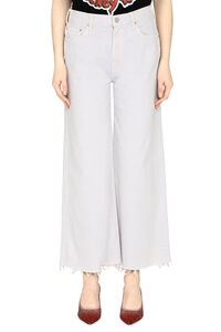 The Undercover Ankle Fray jeans, Wide Leg Jeans Mother woman