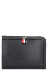 Grainy leather pouch, Poches Thom Browne man