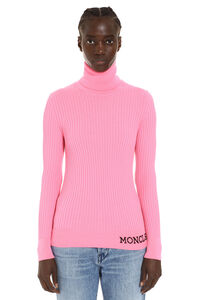 Ribbed wool turtleneck sweater, Turtleneck sweaters Moncler woman