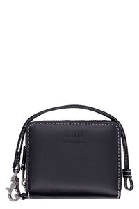 Small leather flap-over wallet, Wallets AMI PARIS man
