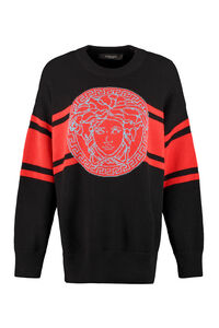 Oversize wool sweater, Crew neck sweaters Versace woman