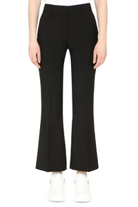 Flared hem cropped trousers, Trousers suits MSGM woman