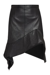 Leather asymmetric skirt, Leather skirts Alexander Wang woman