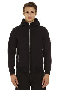 Hooded techno fabric jacket, Raincoats And Windbreaker Stone Island man