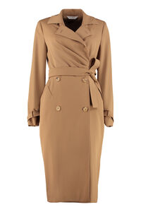 Lucia virgin wool double-breasted dress, Knee Lenght Dresses Max Mara woman