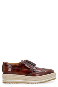 Leather brogues lace-up shoes, Lace-ups Prada woman