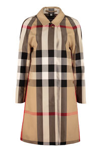 Checked print coat, Knee Lenght Coats Burberry woman