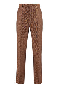 Cotton blend tailored trousers, Casual trousers Gucci man