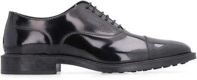 Smooth leather lace-up shoes