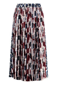 Pleated wrap skirt, Pleated skirts Prada woman