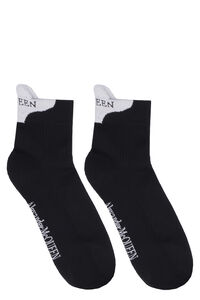 Cotton socks with logo, Socks Alexander McQueen man