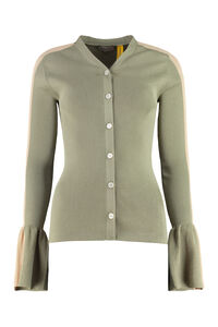 Ribbed cotton cardigan, Cardigan 2 Moncler 1952 woman