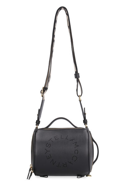 Small faux leather boston bag